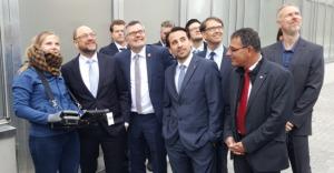 Martin Schulz im Forschungszentrum Jülich
