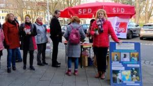 SPD Jülich mit Wahlkämper*innen in der Stadt